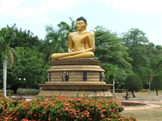 A statue of Buddha in Colombo
